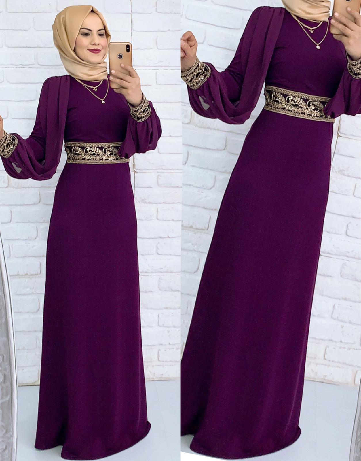 7e44fda873600 Kumaş krep abiye astarlı – Elbise eşarp tesettür Kadın Giyim tunik ...